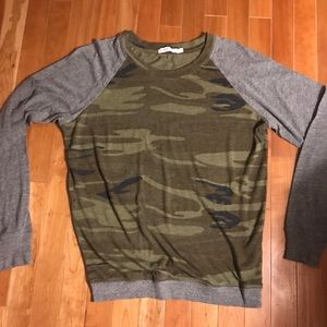 Alternative green and gray camouflage top